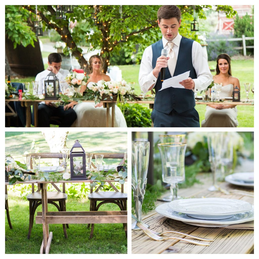 reception-head-table-farm-table-rustic-lanterns-rpimagery-com-lakechelanflowers-com-lakechelanweddingrentals-com-collage