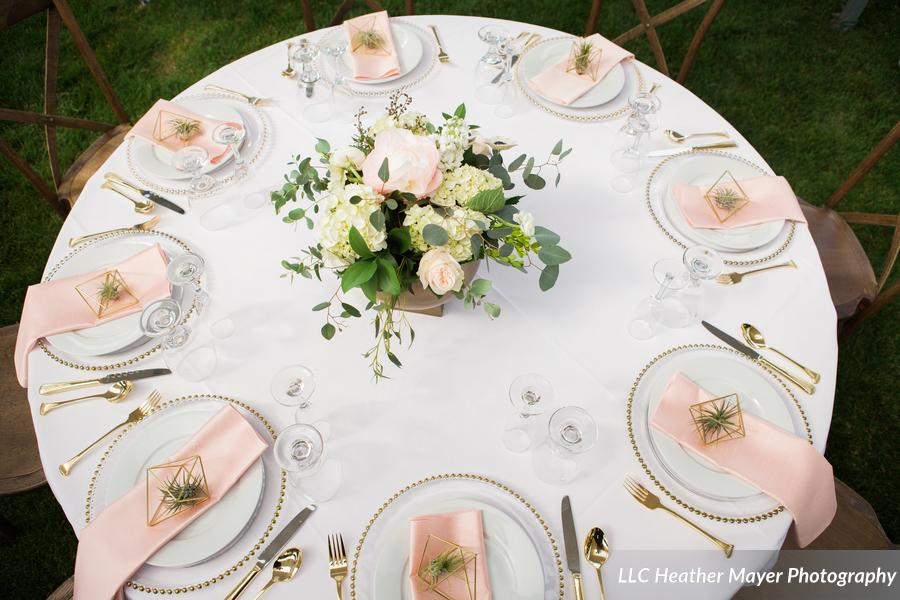 round-table-blush-napkins-gold-chargers-florist-lakechelanflowers-com-heathermayerphotography-lakechelanweddingrentals-com-caveb-com